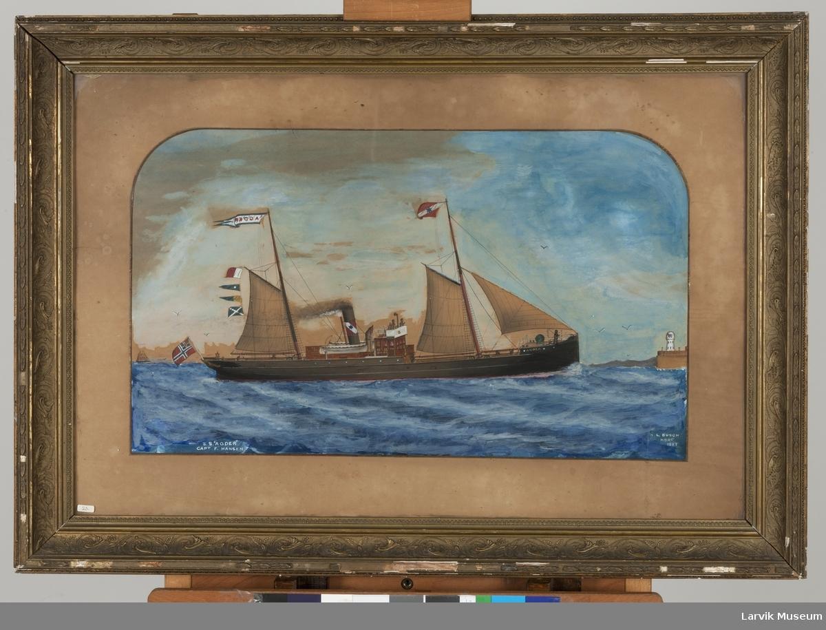 Dampbåten Agder med seil