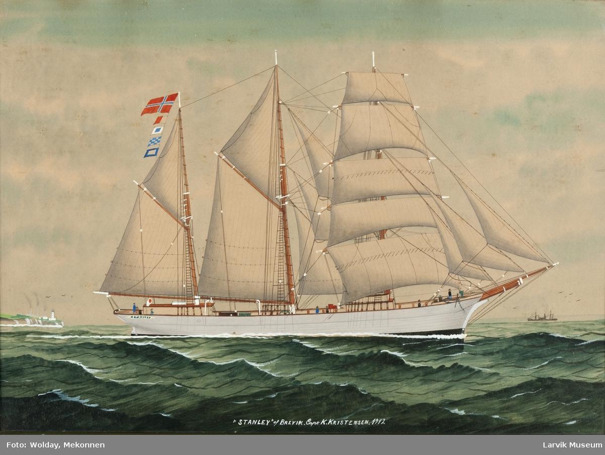"""Skonnertskip """"Stanley"""" av Brevik"""