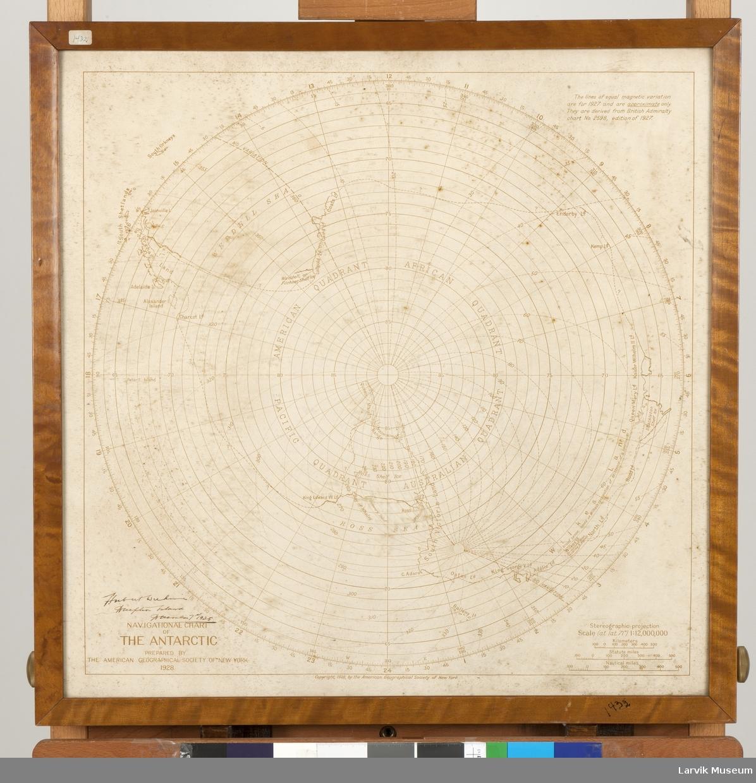 Navigasjonskart over Antarktis 1928.