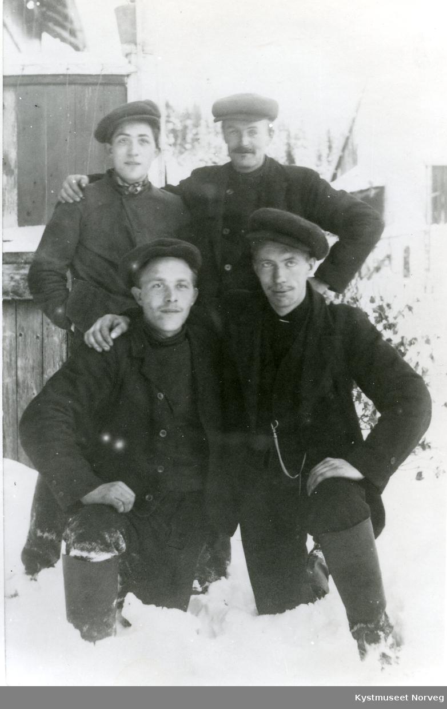 Anders Kjihl, ukjent, Hans Iversen Kjihl og Jens H. Selliseth
