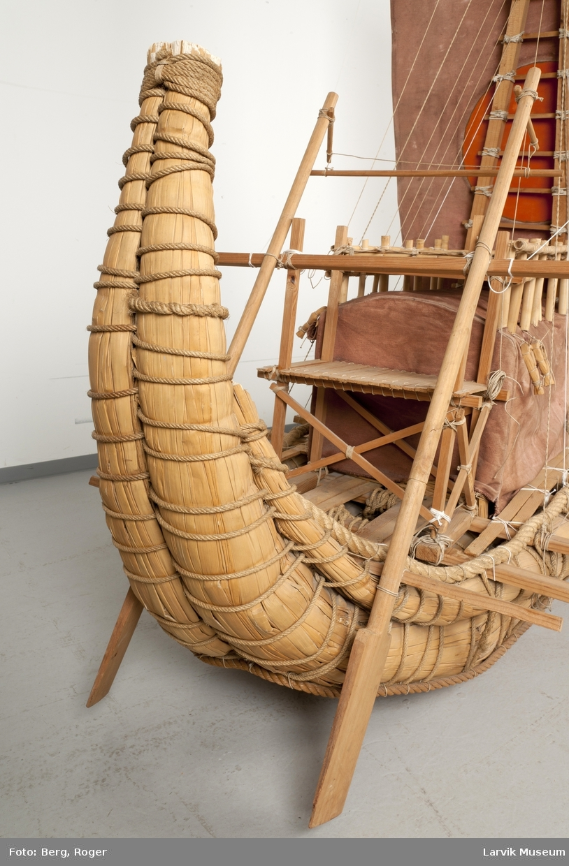 "Modell av båten ""Ra II"""