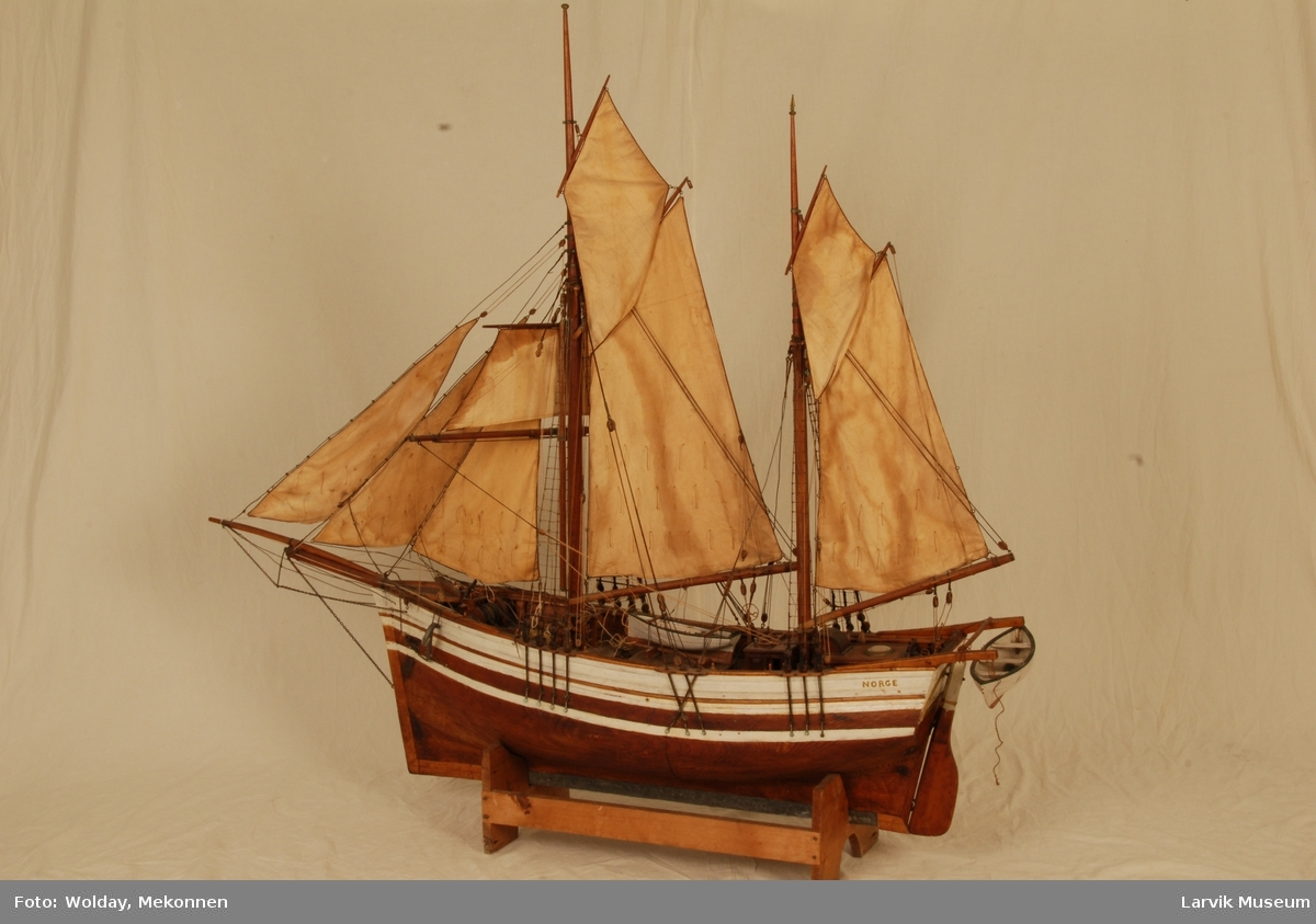"Modell av nordlandsgaleas ""Norge"""