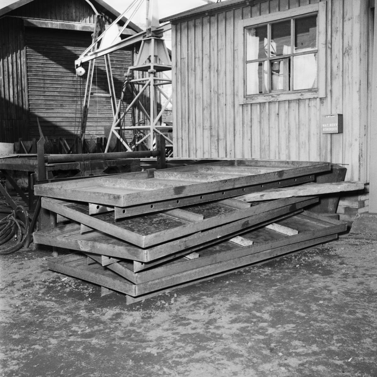 Övrigt: Foto datum: 10/9 1958 Byggnader och kranar Pannverkstan pågående arbeten