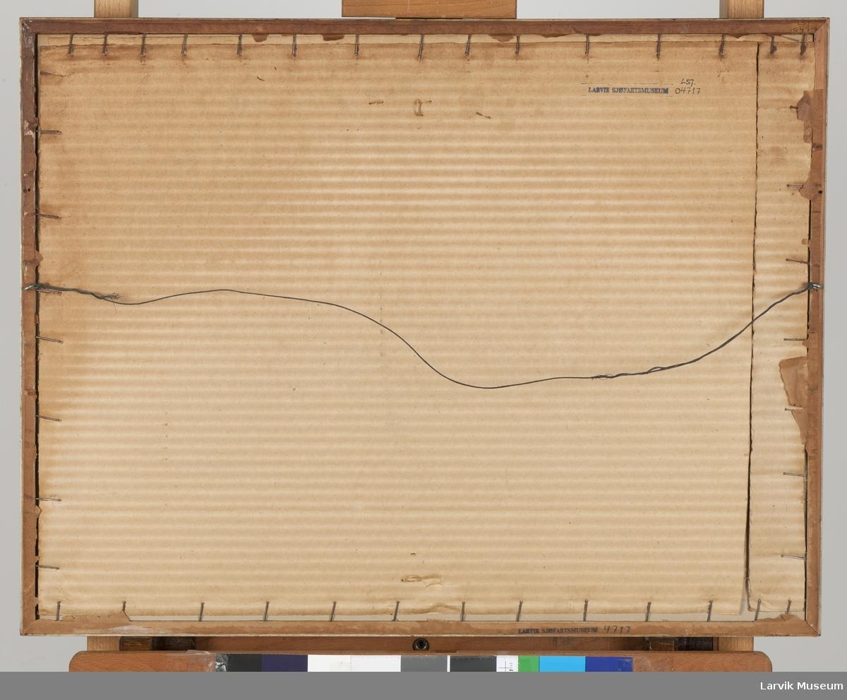 """Maleri av skoleskipet """"København"""", 5-mastet bark"""