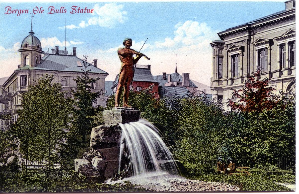 Ole Bull statuen i Bergen