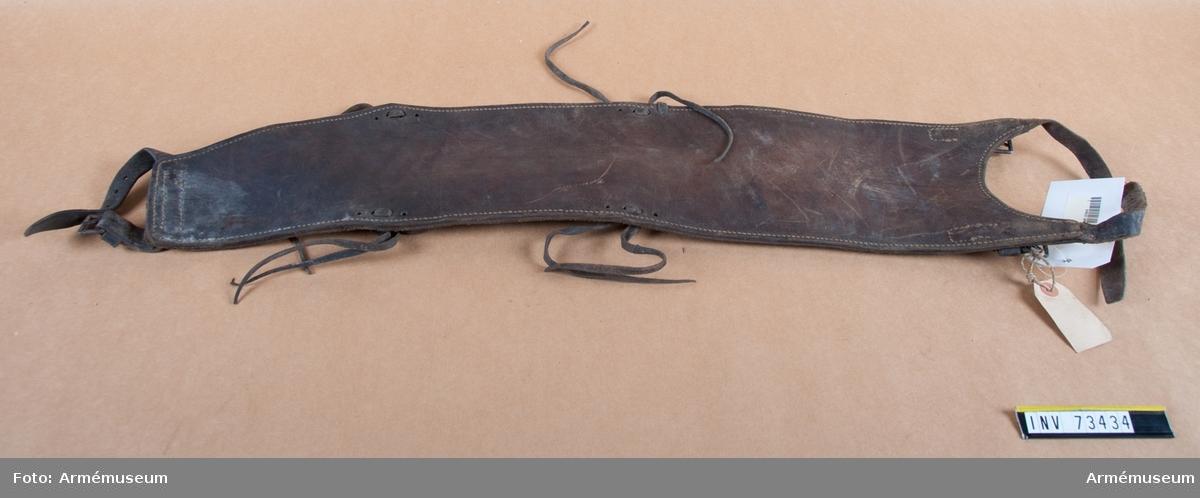 Grupp F.III. Ryggstödsläder till 7 cm kanon m/1887.