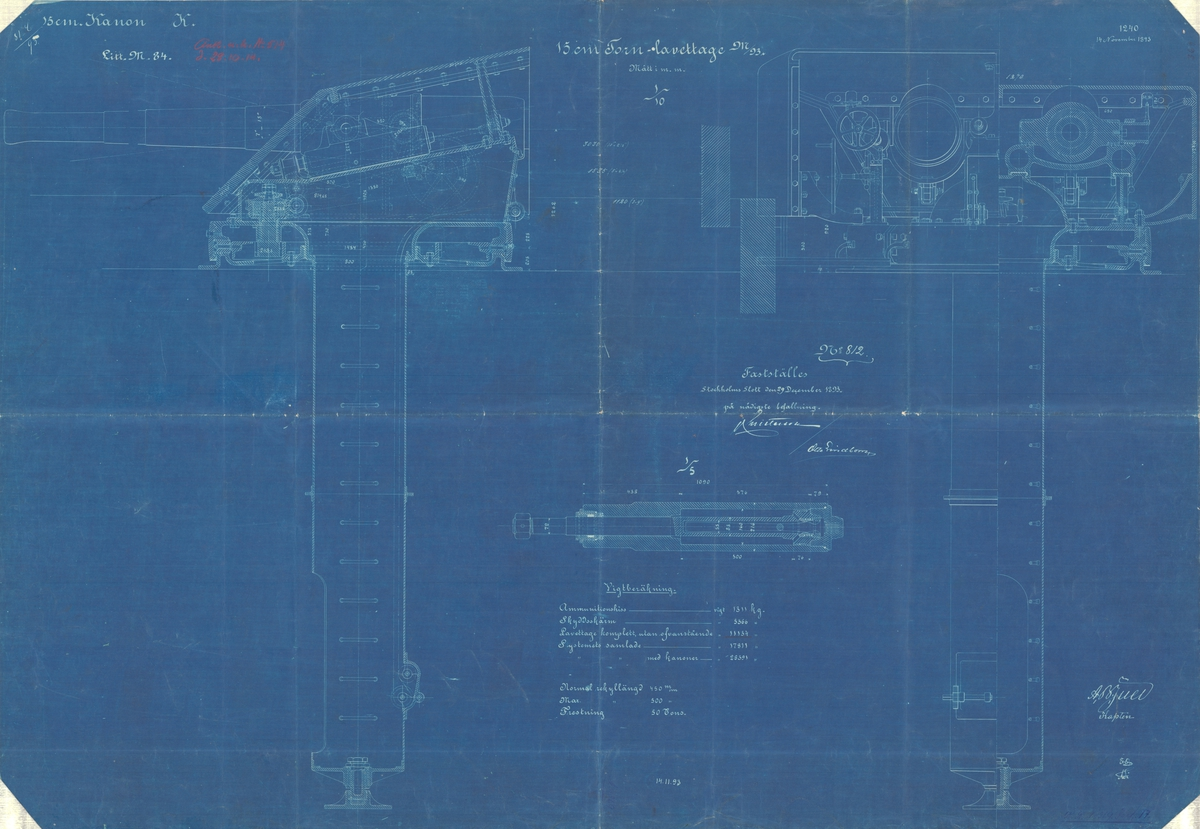 15 cm tornlavettage m/93