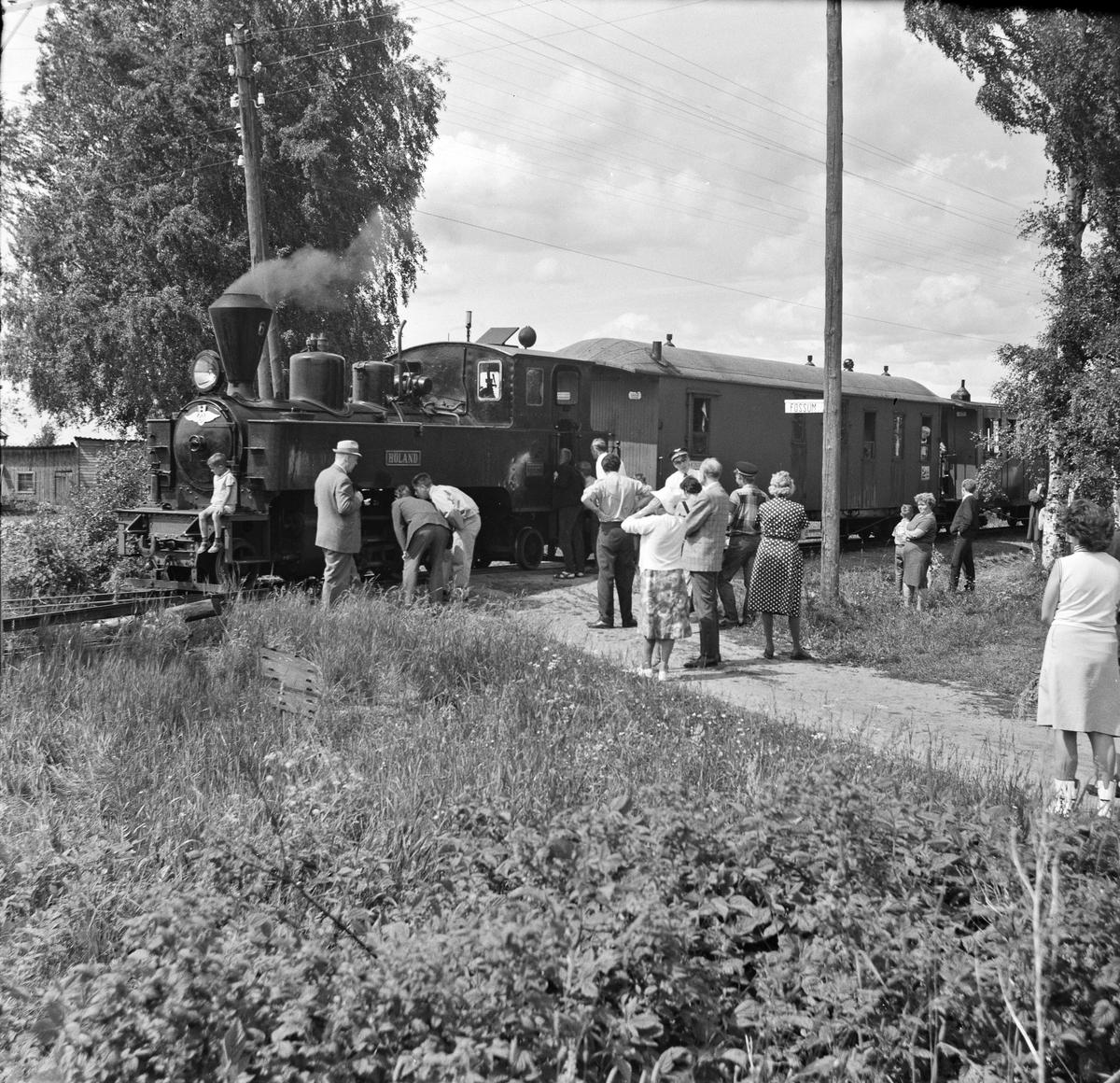 En av de første åpne turene for publikum på museumsbanen