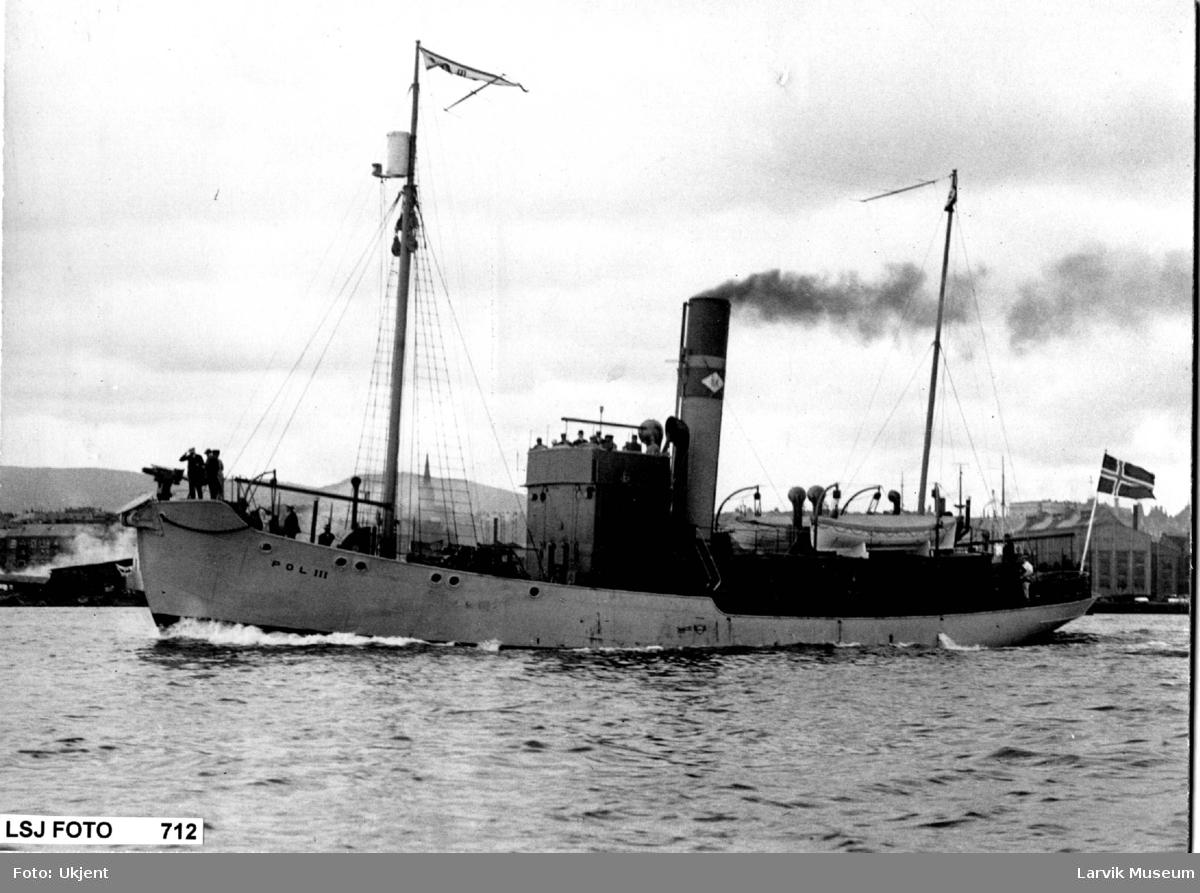 """fartøy, dampskip, hvalbåten """"Pol III"""""""