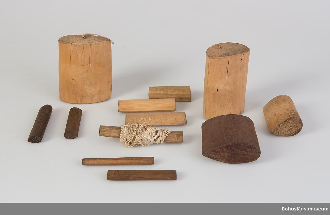 Diverse olika nätkavlar använda vid bindning av garn.