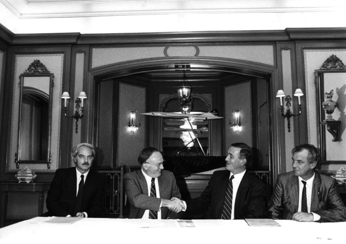 Portrett. Braathens SAFE og British Airway sine forhandlingsledere er blitt enige.