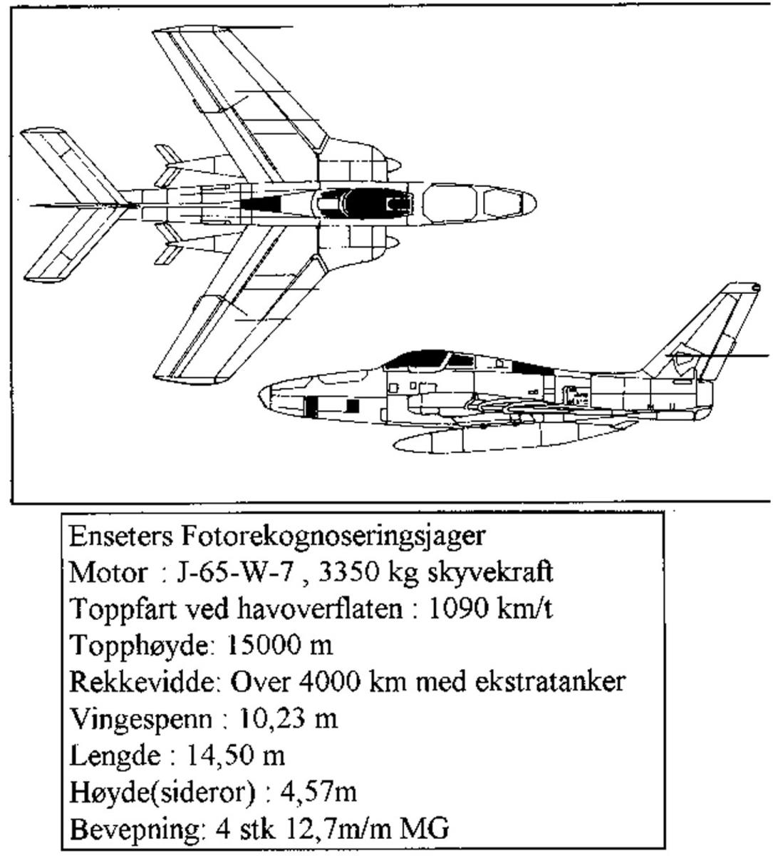 Treplanskisse, Republic F-84F Thunderflash.