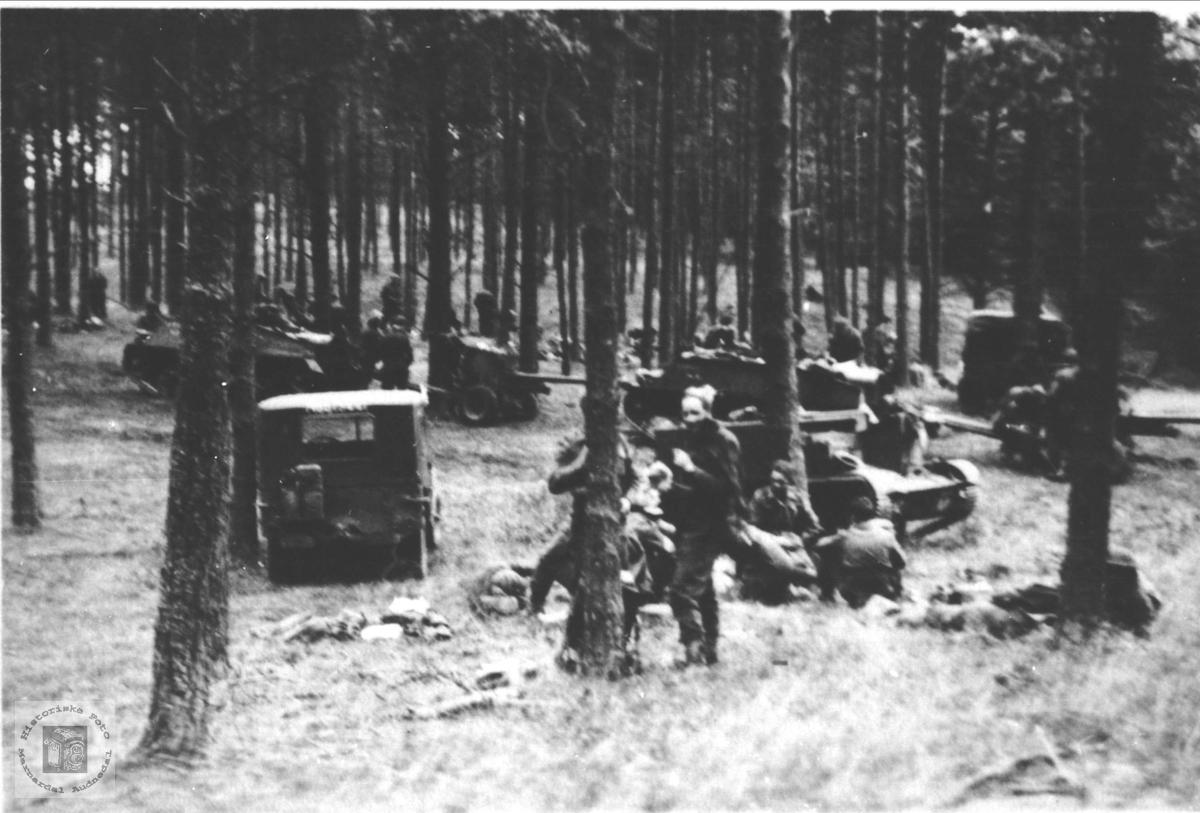 Kompani C, brigade 491 på brigademanøver i Nord-Tyskland 1949