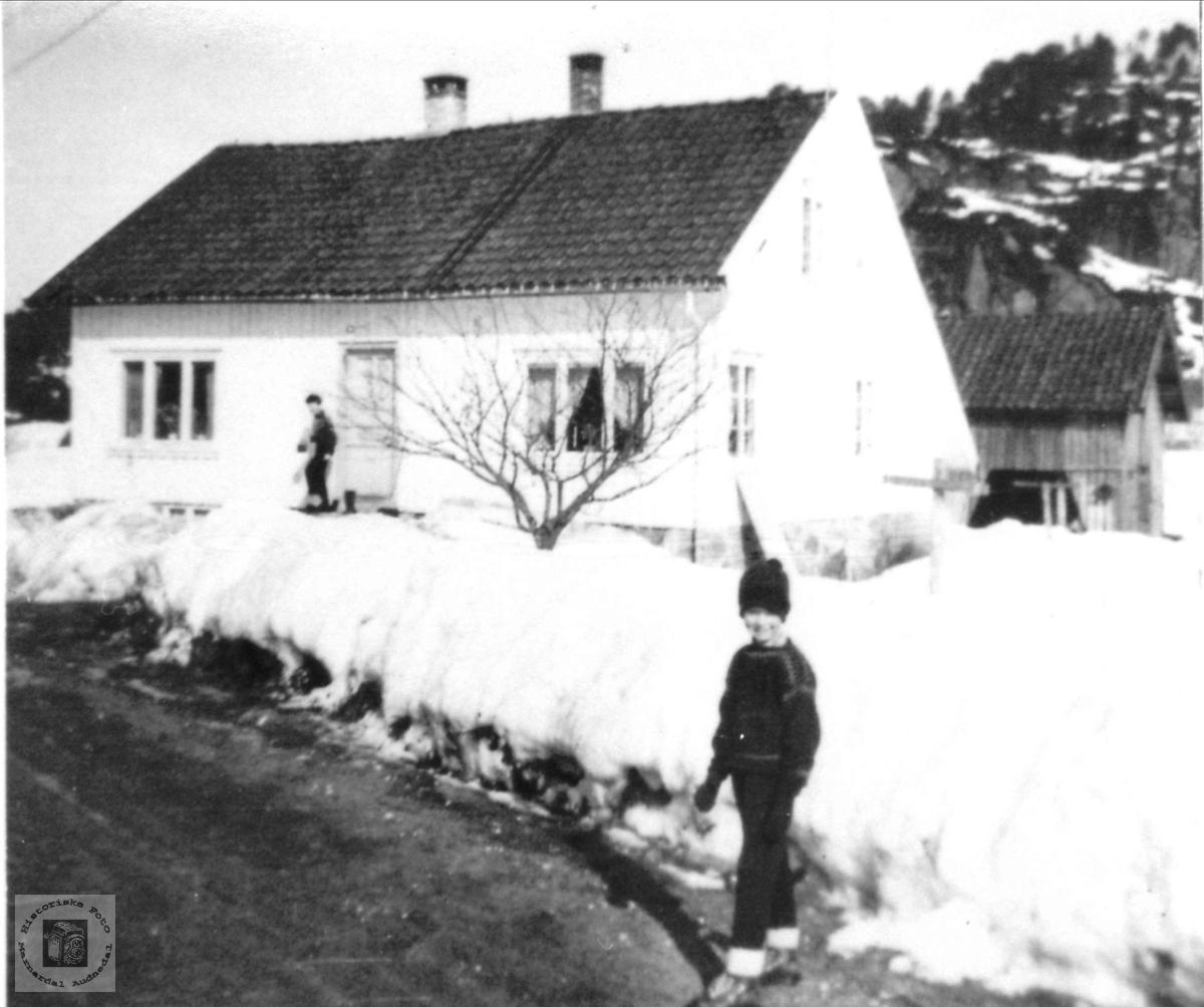 Gamlehuset på Garækra, Laudal.