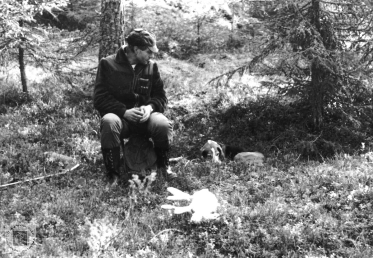 Harejakt.Asbjørn og Joko.