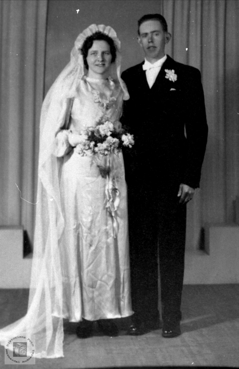Brudebilde. Sigrid og Ola Aukland.