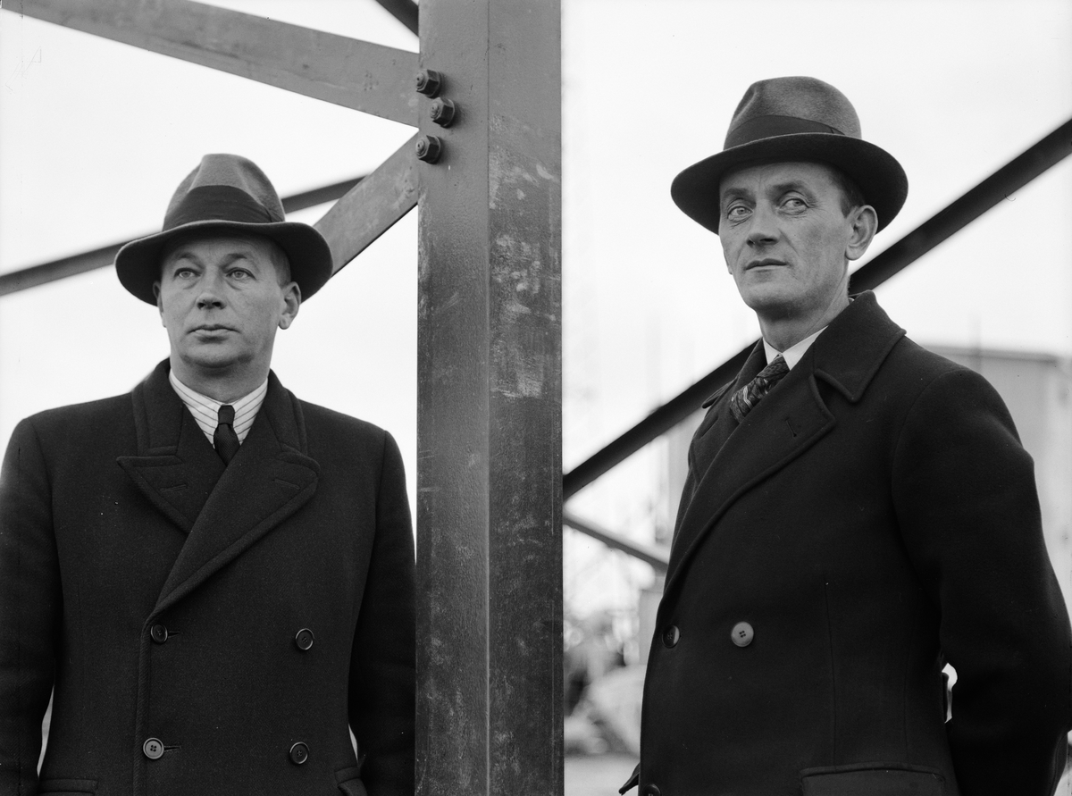 Två män, sannolikt Uppsala, 1937