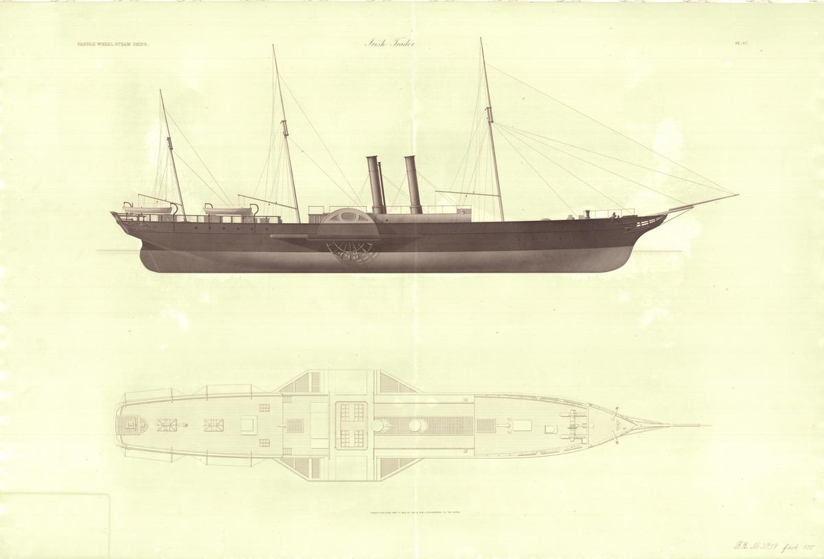 Ritning från 1860-talet