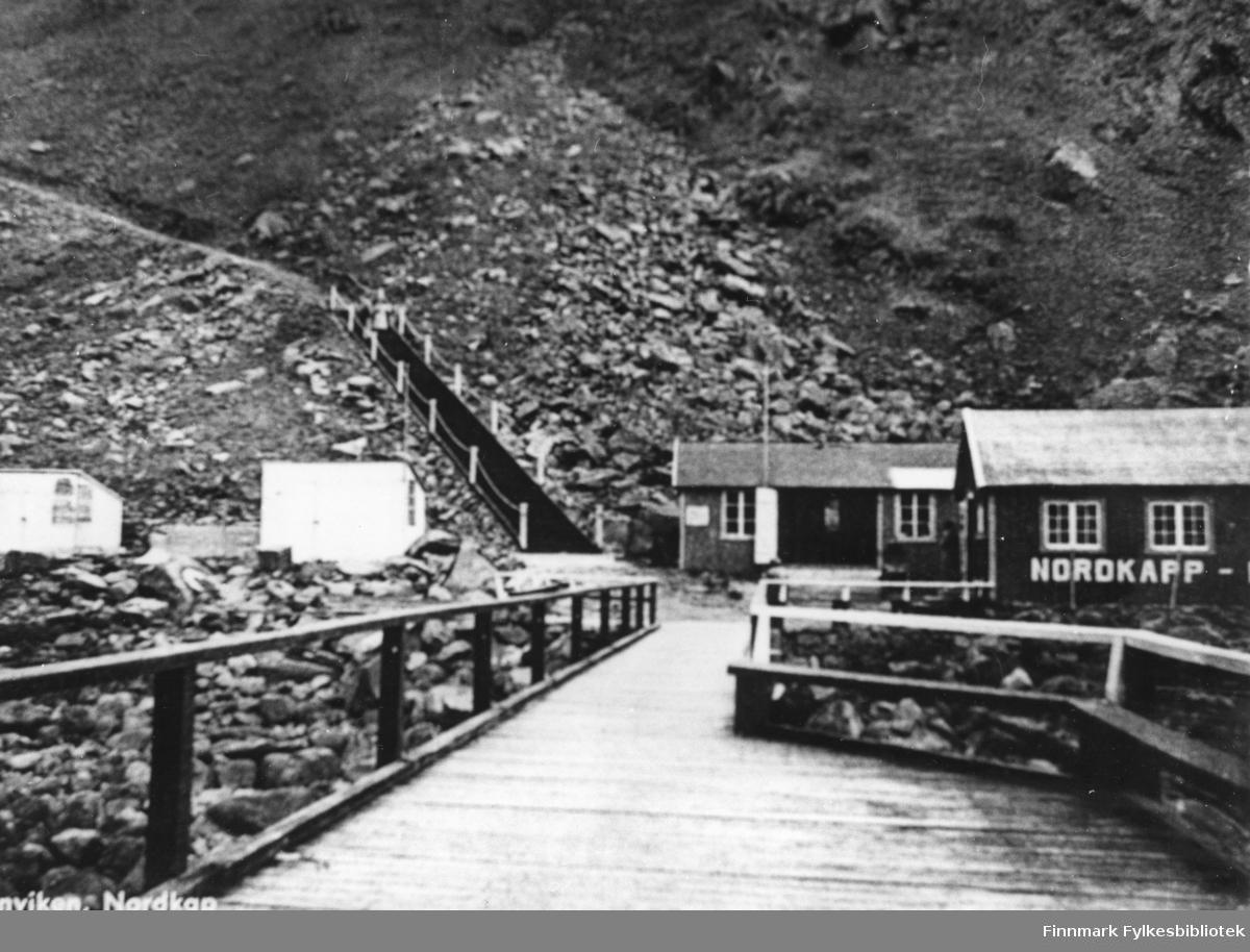 Hornvika var stedet man gikk i land for å gå opp til Nordkapp platået.