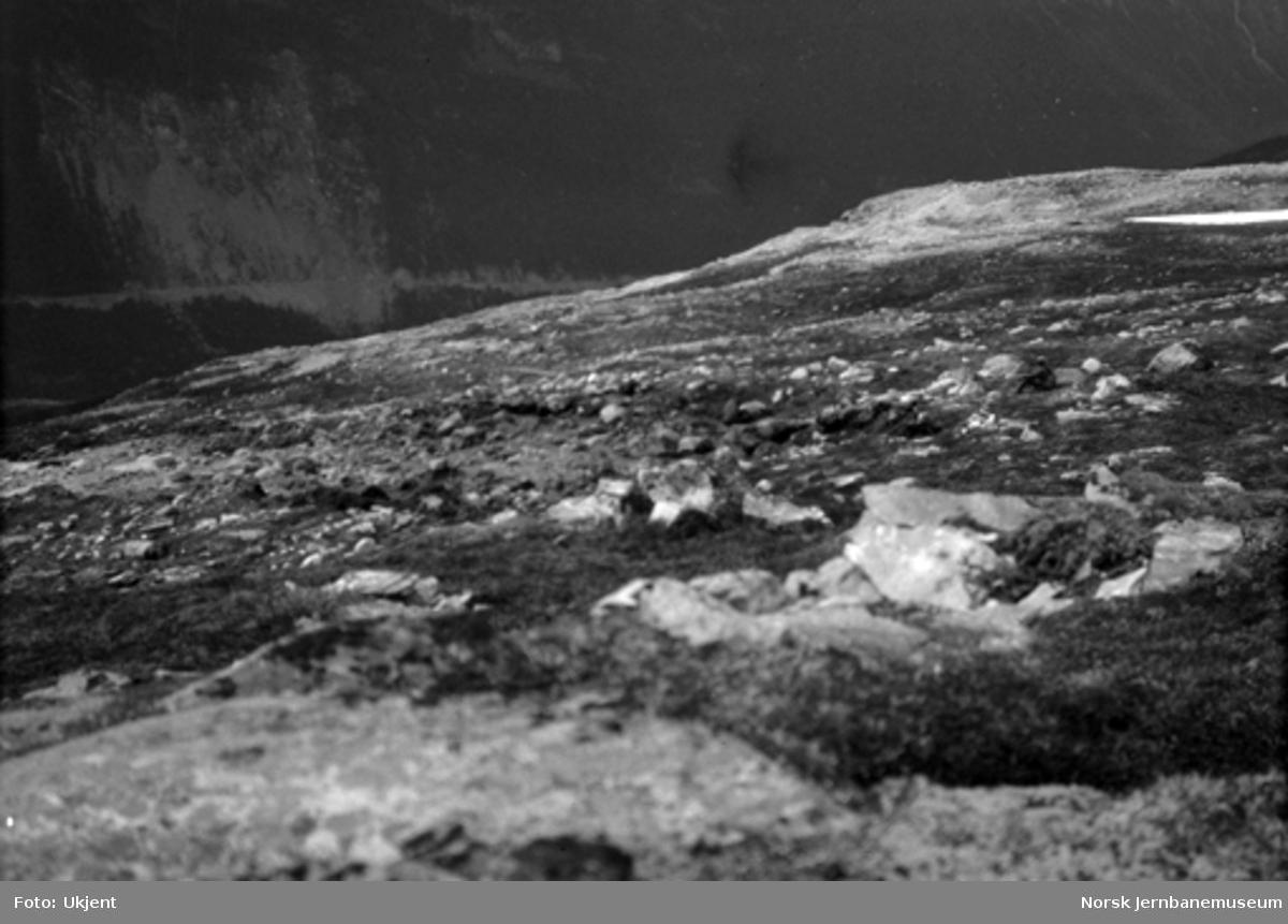 Jordskred ved Verma 9.6.1926 : øverste spiss av skredet