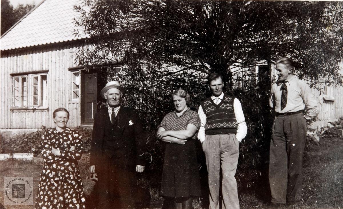 Familiebilde Hægeland i Konsmo.