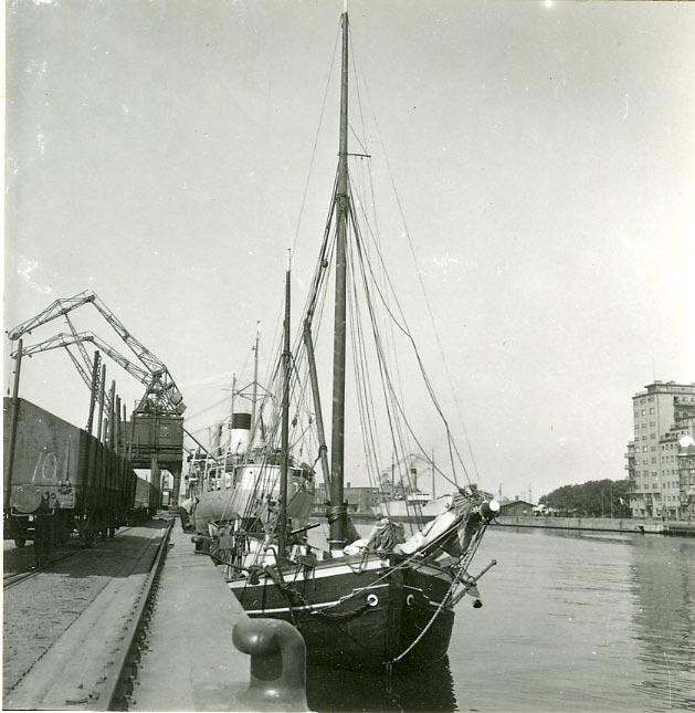 Malmö hamn 1946.
