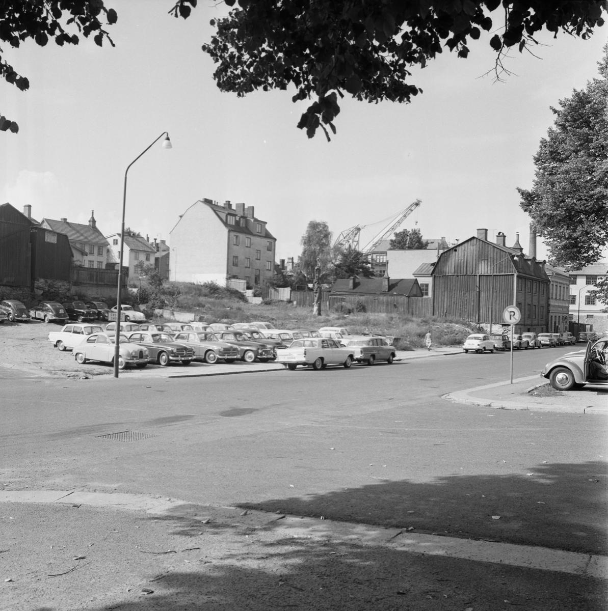 Övrigt: Fotodatum 23/8 1963 Byggnader och Kranar Kvarteret Pollux ext