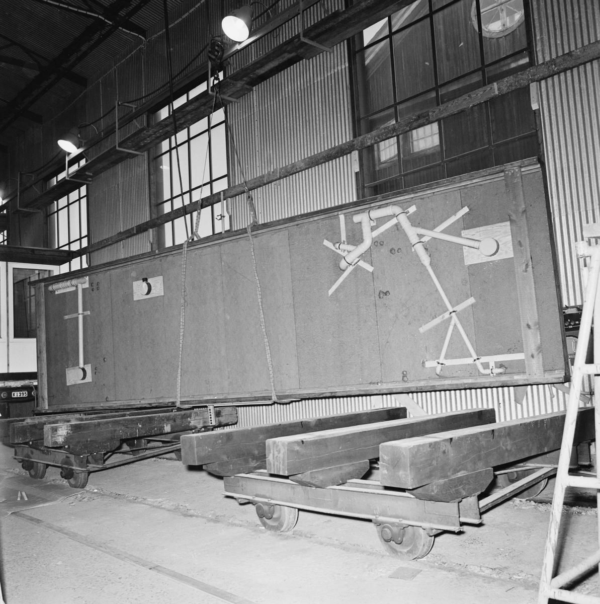 Övrigt: Foto datum: 29/12 1965 Byggnader och kranar Provelement. Närmast identisk bild: V33794, ej skannad
