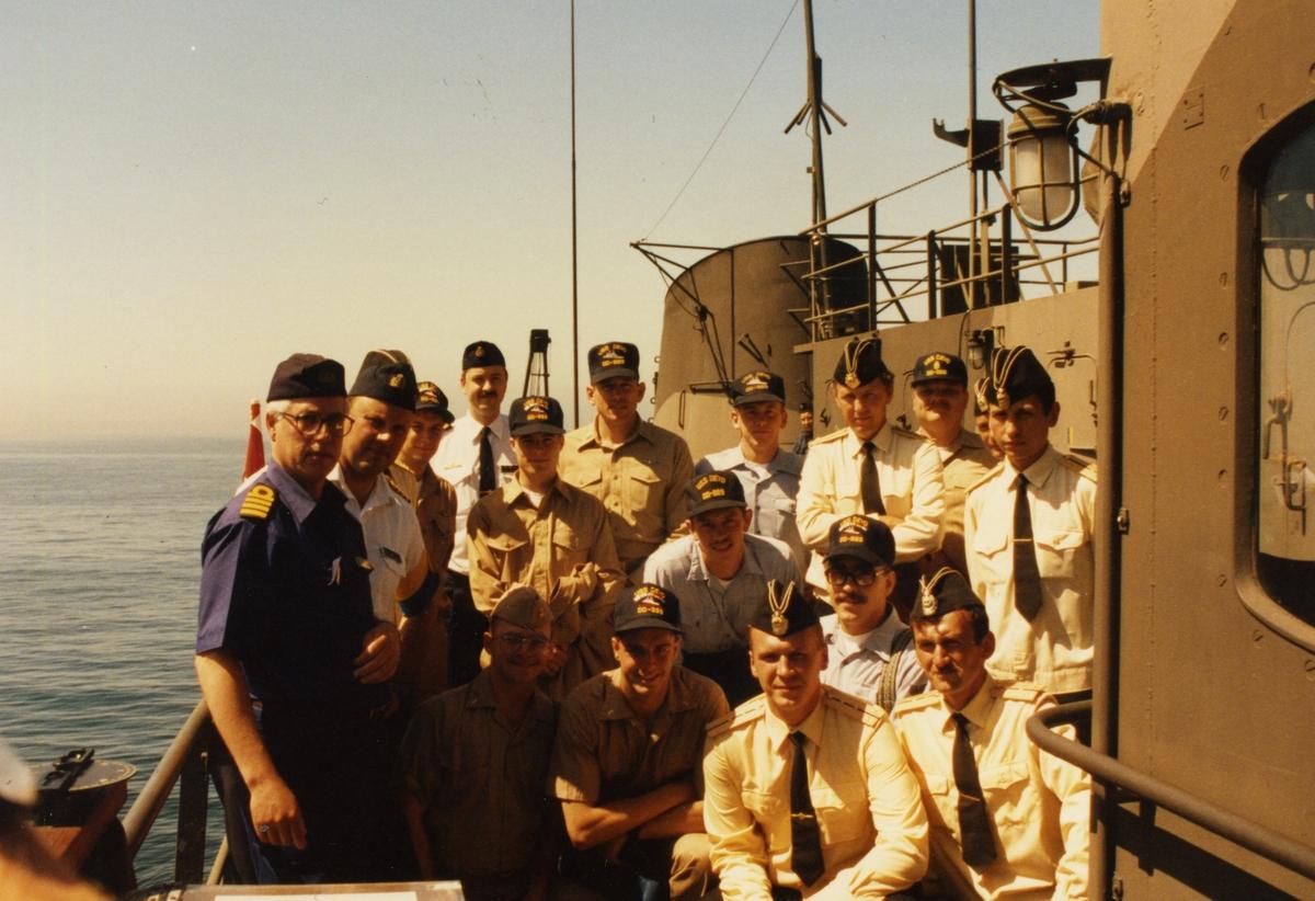 Besök ombord på minfartyget Älvsborg. FC Äbg Kk Ulf Lublin, Balt Ops, 1993