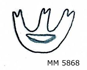 Stämpel för märkning av virke eller textil.