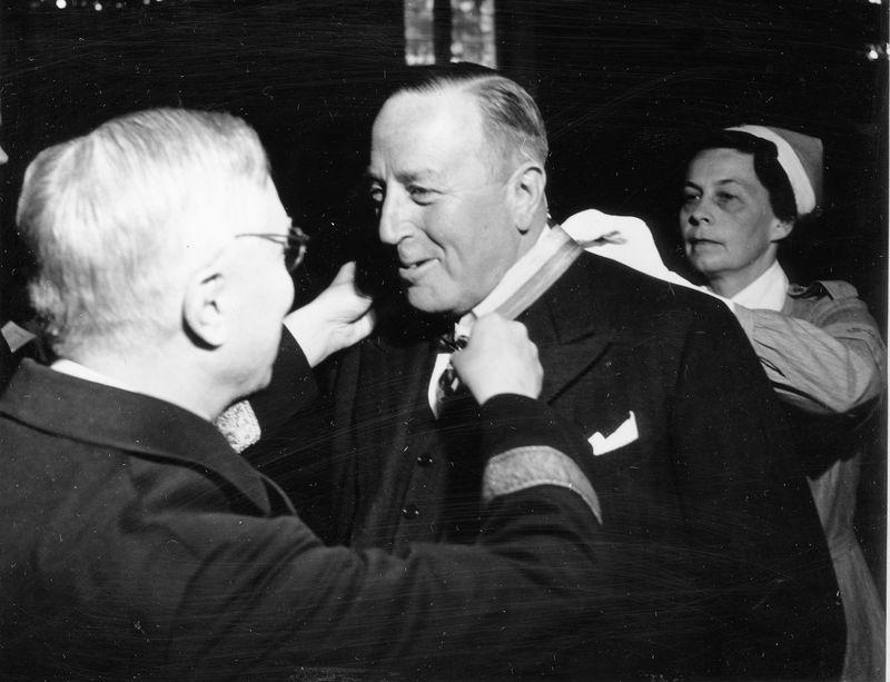 Wargöns AB.  Från 75-års jubileet 1949. Herbert Breithaupt-Meyer, 33 tjänsteår.