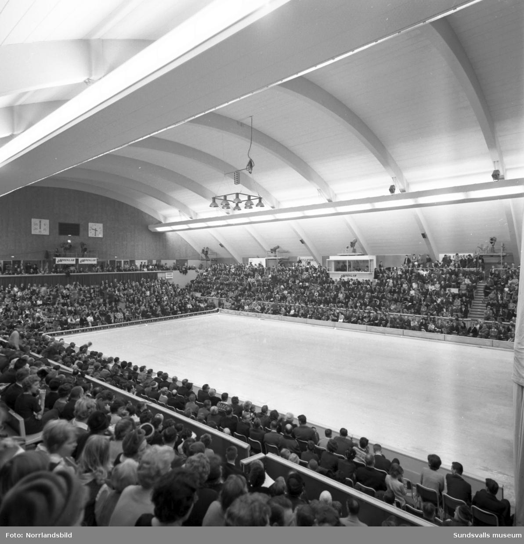 Isolering av golvet och isläggning i Sporthallen för showen Holiday on ice.