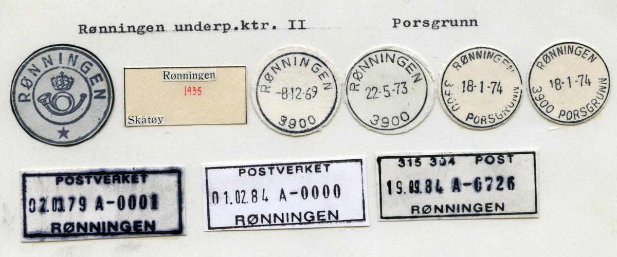 Stempelkatalog Rønningen, Porsgrunn, Telemark