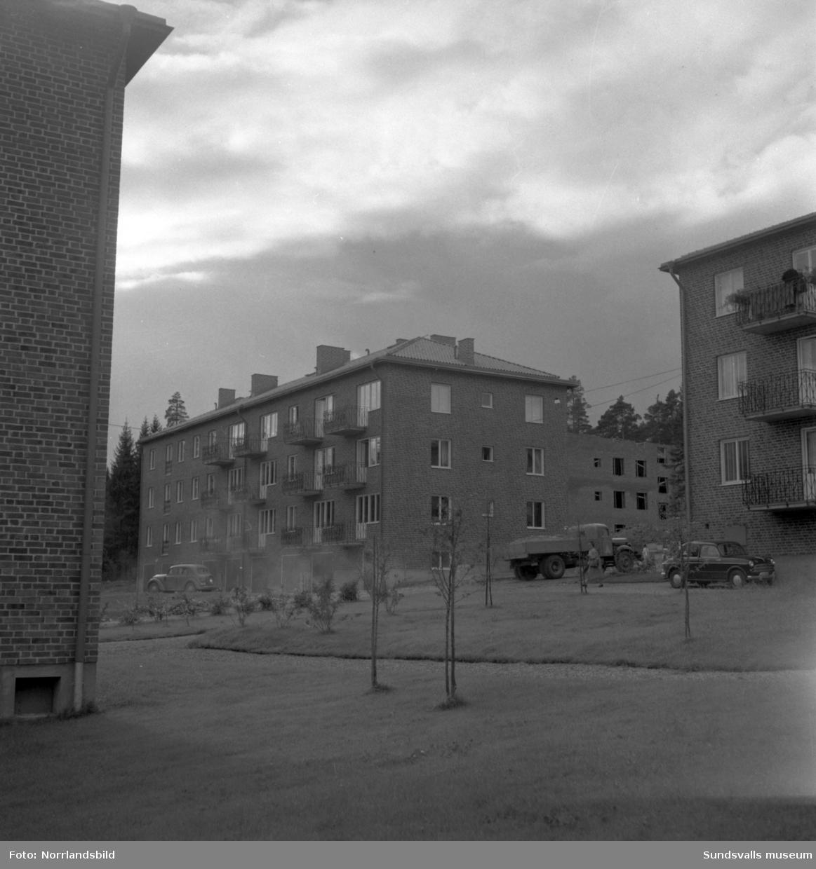Exteriörbilder av flerfamiljshusen på Västergatan.