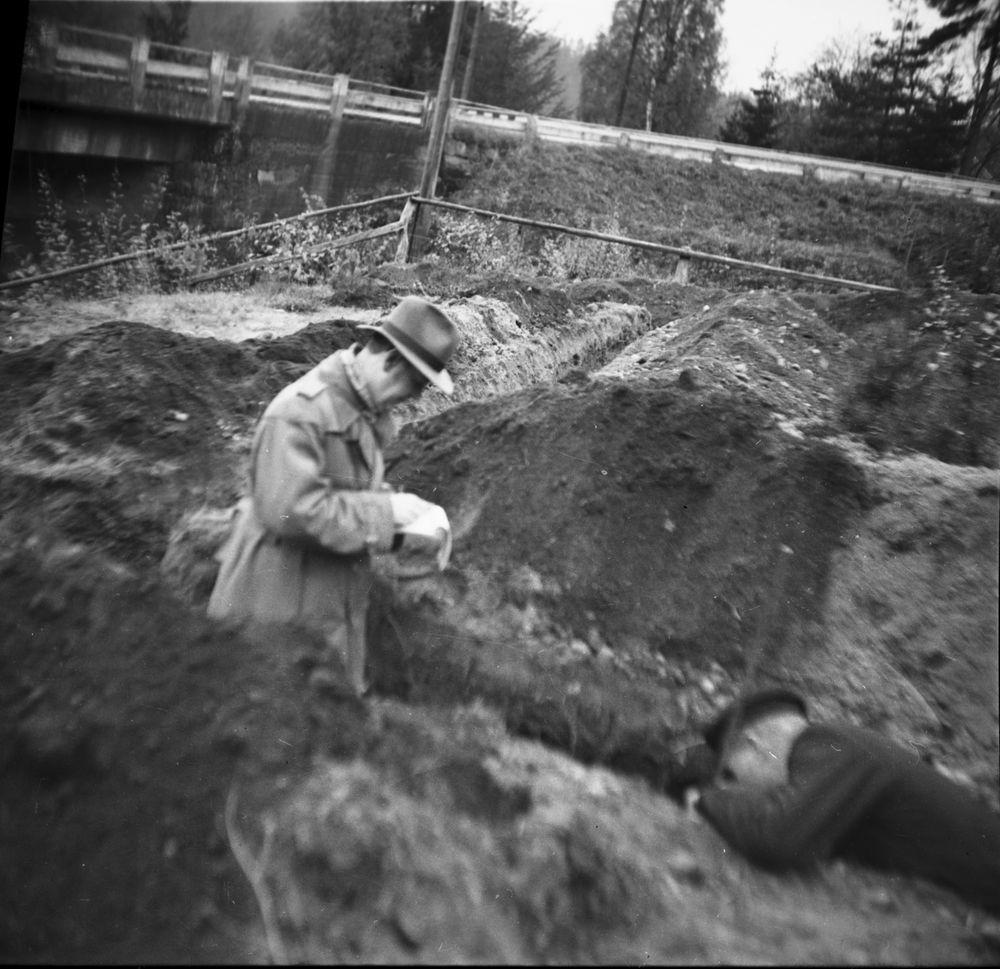 Utgrävning 1948-1949.  Hästevadet  Västra Tunhem