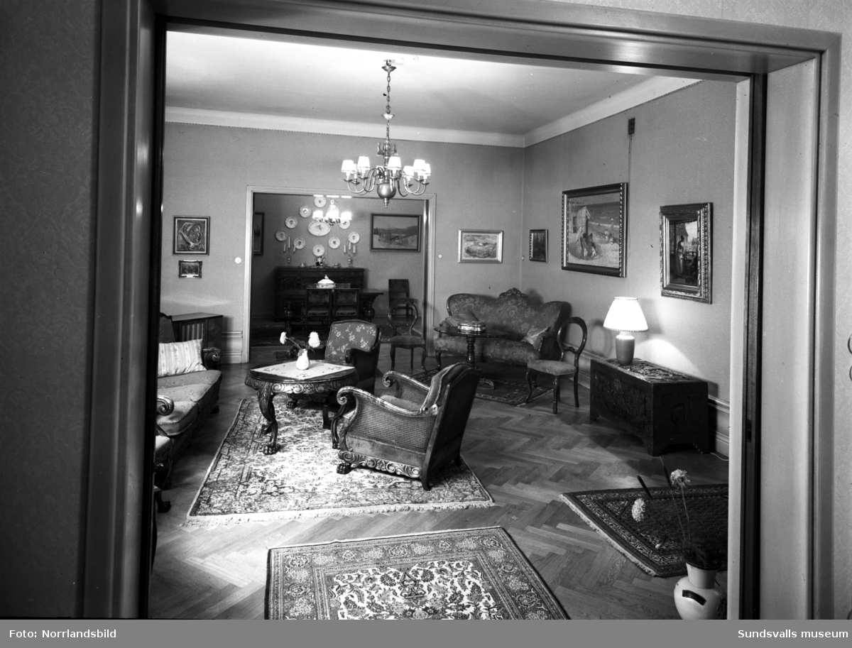 Direktör Fridolf Brunnzells våning (Lindgrens järnhandel).