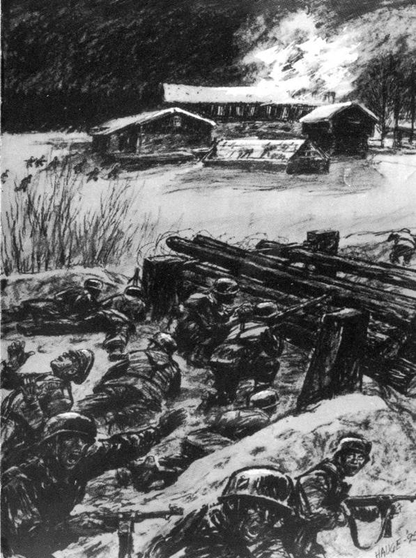 Tyskere i kamp på Midtskogen