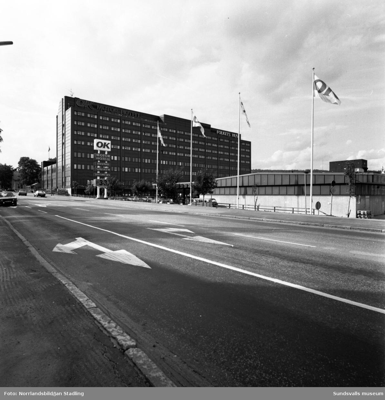 OK Motor Hotel vid Bergsgatan-Esplanaden. Exteriörbilder.