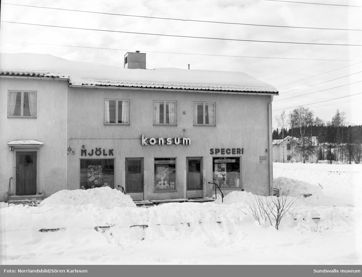 Konsumbutik på Rörgatan 7.