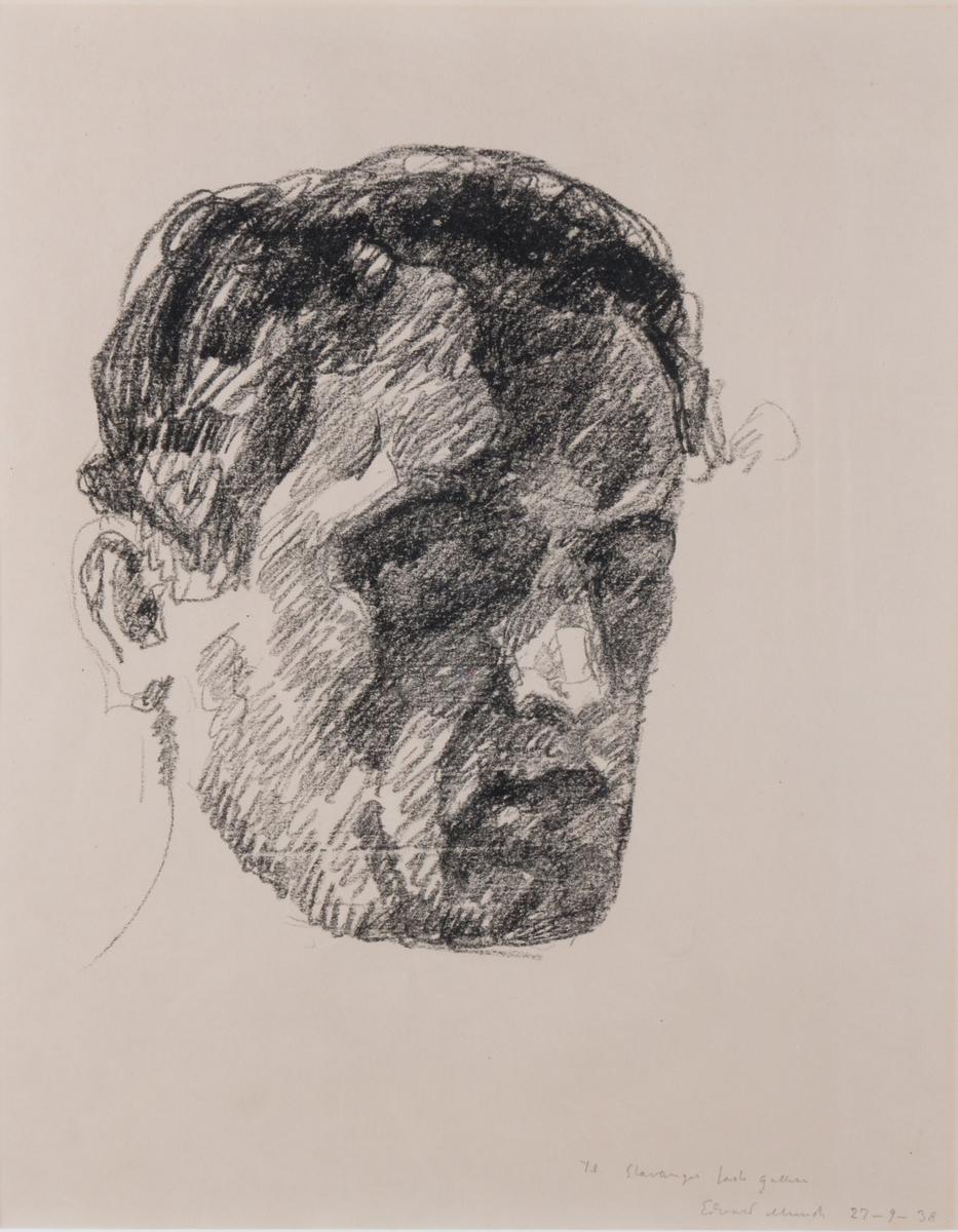 Selvportrett av Edvard Munch