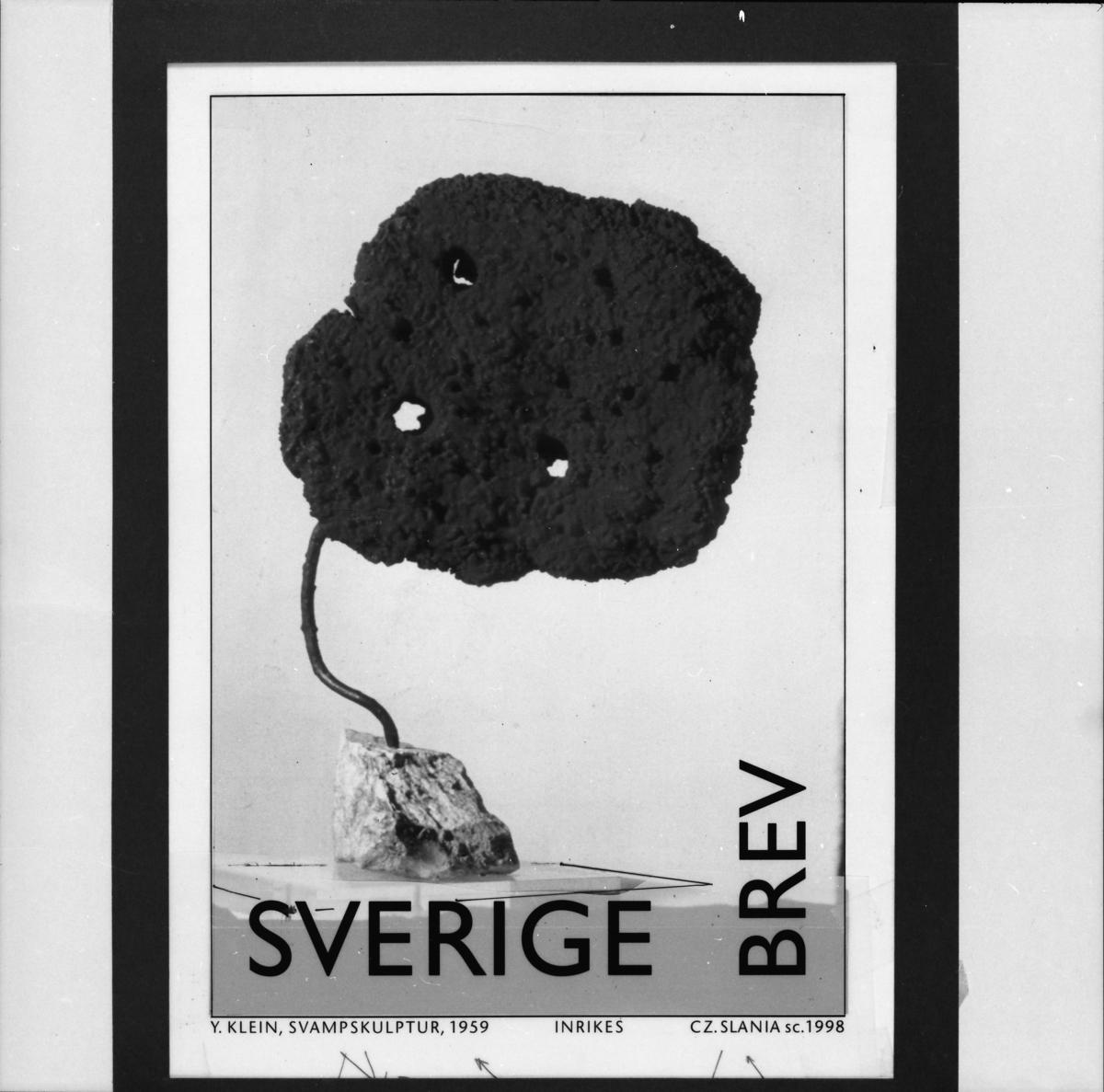"""Original till frimärket """"Svampskulptur"""" , 1959 till frimärksutgåvan Moderna museet, 1998."""