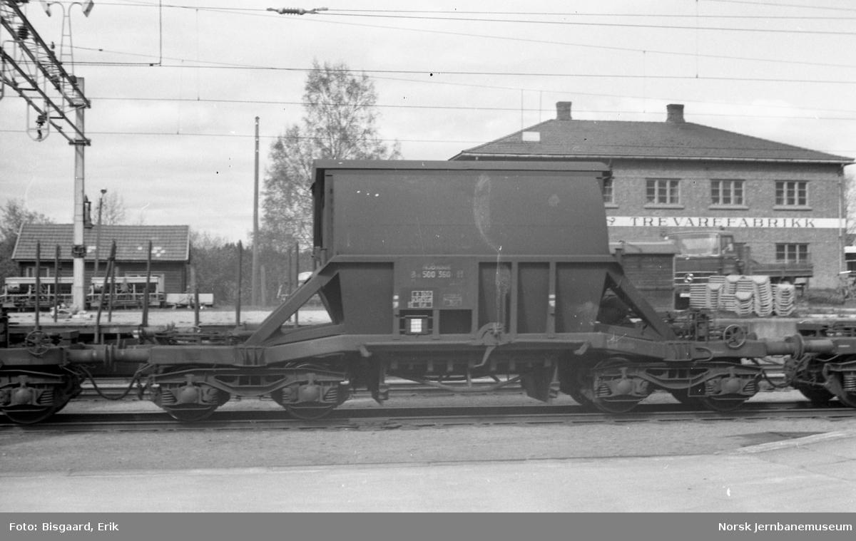 Kisvogn litra Øo5 nr. 500360 på Mysen stasjon