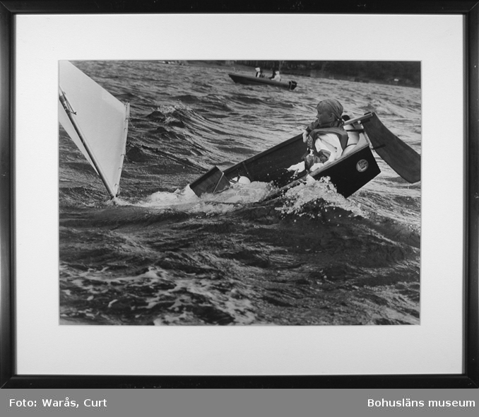 Segling Lilla Tjörn runt i augusti 1990.