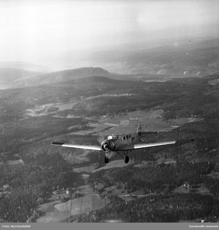 Europas äldsta flygmaskin, Junker 1935, på Midlanda.