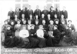 Amtskulen i Grindheim 1908-09