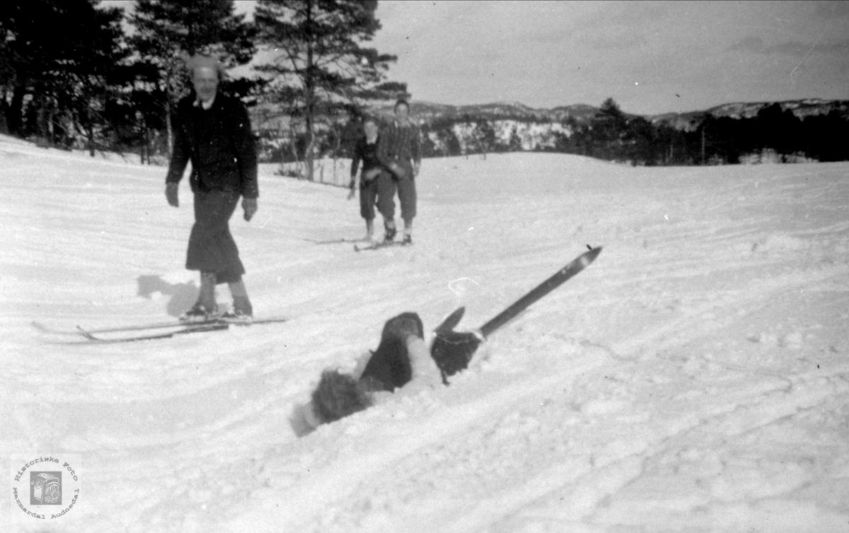Olav Stedjan og Jenny Vormelid på skitur