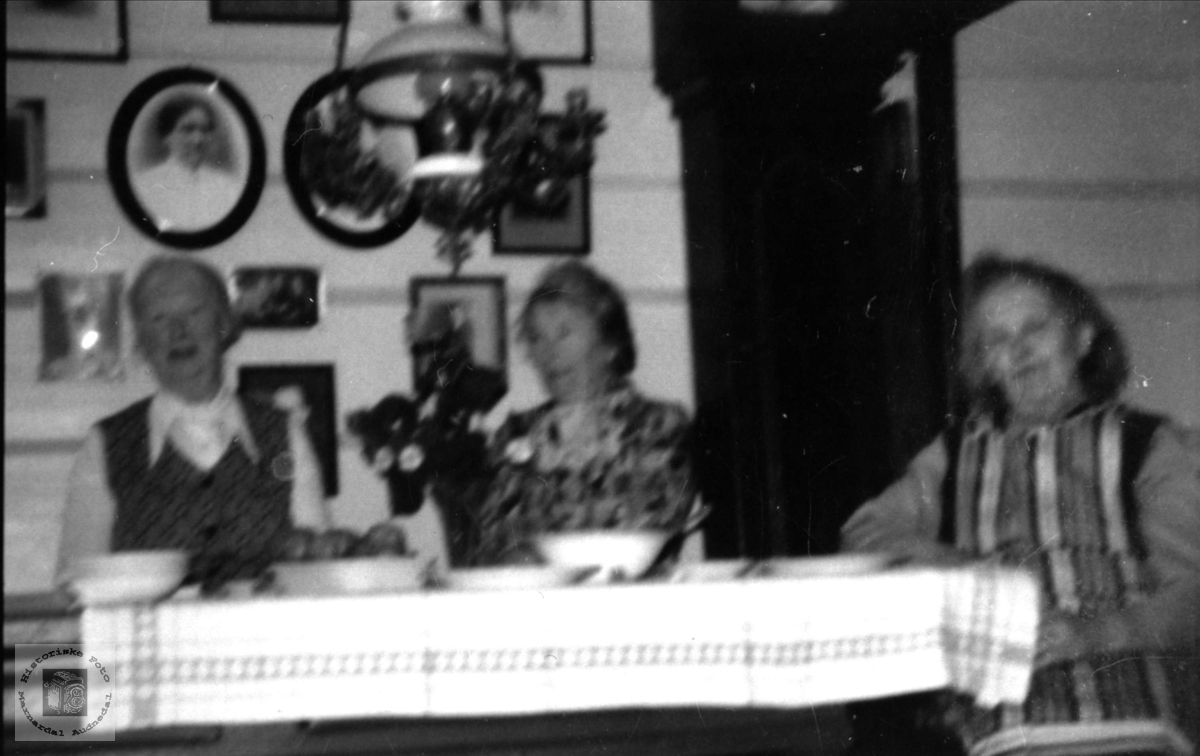 Tre gode venninner i gamlestova på Røynesdal