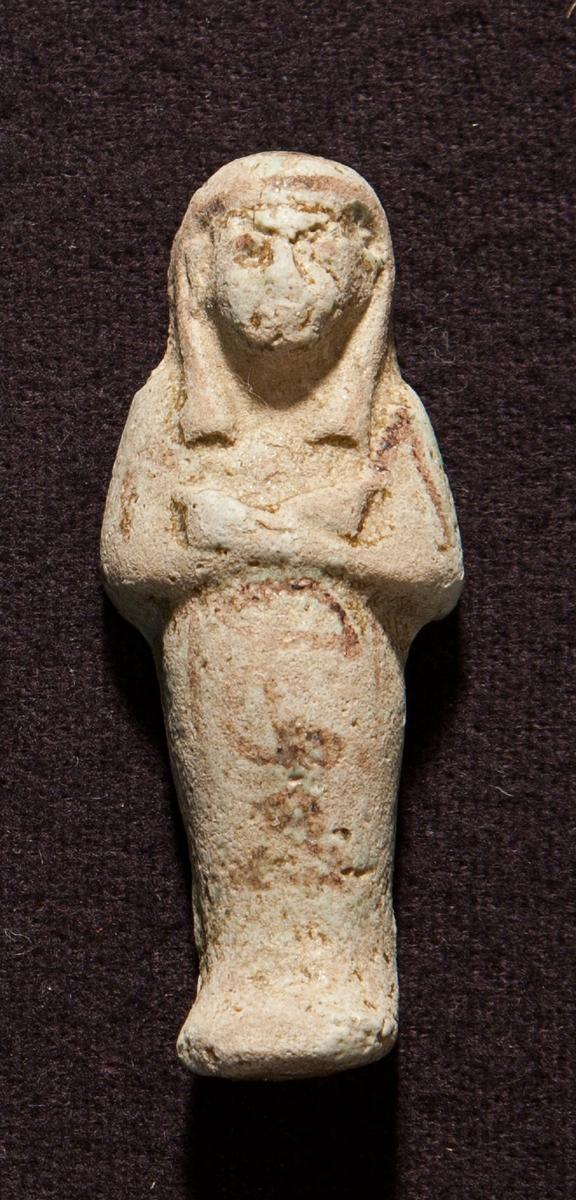 Uschebti var en av ca 300 liknande figurer som skulle utföra dagsverken åt den döde i dödsriket, en figur per dag.