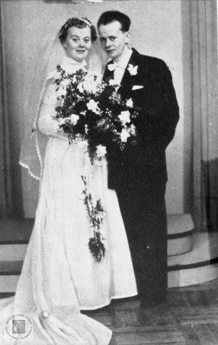 Brudeparet Turid og Kåre Breilid.