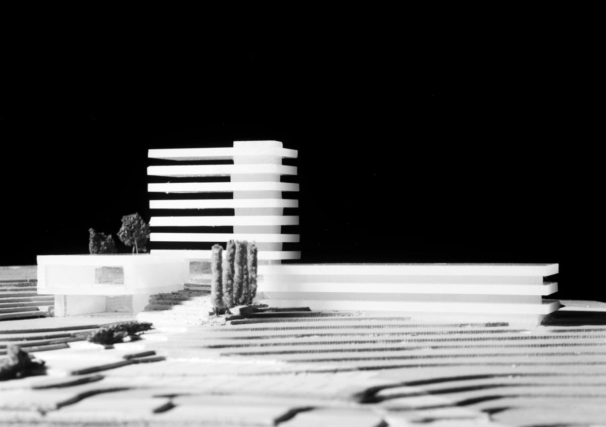 Modell av Asker Rådhus.